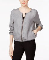 Fever Chambray Bomber Jacket