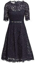 Teri Jon by Rickie Freeman Women's Lace Flared Dress