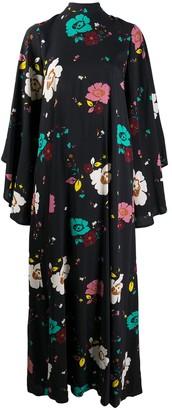 La DoubleJ Floral-Print Long-Sleeved Maxi Dress