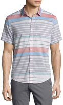 Original Penguin Striped Short-Sleeve Shirt, Blue