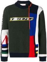 Iceberg logo colour-block sweater