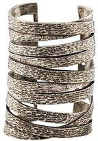 Saint Laurent Textured Wide Cuff Bracelet