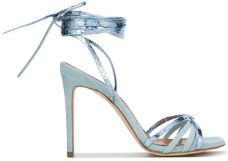 Paris Texas Metallic Ankle Tied Sandals