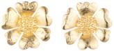 Natori Gold Plated Brass Peony Earrings