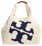Tory Burch Logo Beach Tote - Ivory