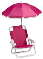 Redmon Baby Beach Chair with Umbrella (2 Sets, Pink)