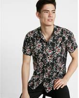 Express Floral Short Sleeve Button-up Shirt
