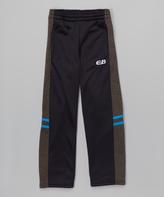 CB Sports Black & Turquoise Stripe Track Pants - Tween
