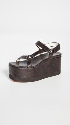 Tibi Masa Platform Snake Sandals