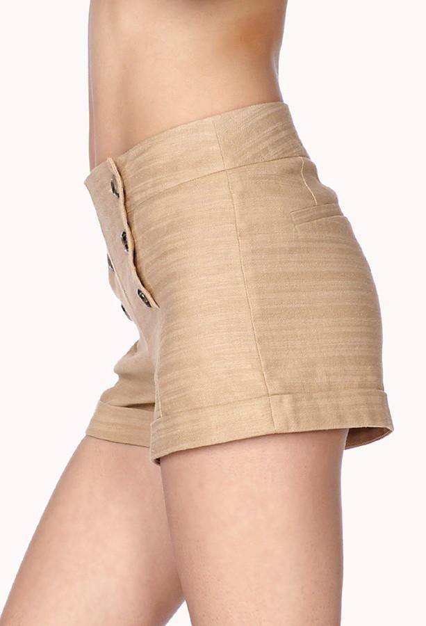 Forever 21 Linen-Blend Sailor Shorts