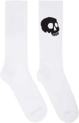 Palm Angels White and Black Skull Socks