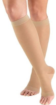 Truform Women's Stockings, Knee High, Sheer, Open Toe: 15-20 mmHg, Nude, Small