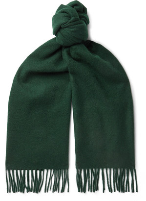 Anderson & Sheppard Fringed Cashmere Scarf