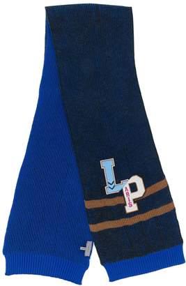 Lanvin logo patch scarf
