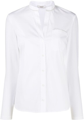 Peserico Embellished Cotton Shirt