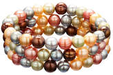 Honora Style Set of 3 Gelato Ringed Cultured Pearl Stretch Bracelets