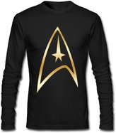 MVWAPOD Men Star Trek Badge Gold Logo T-shirts