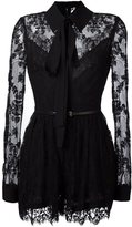 Elie Saab tie-neck lace detail jumpsuit - women - Polyamide/Cotton/Silk - 40