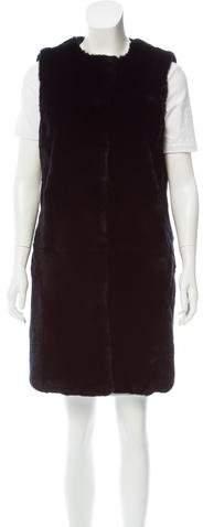 Yves Salomon Longline Fur Vest