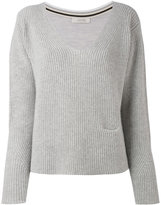 Dorothee Schumacher - V-neck ribbed jumper - women - Cashmere - 1