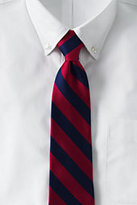 Classic Men's Long Wide Stripe Necktie-Red/Navy Stripe