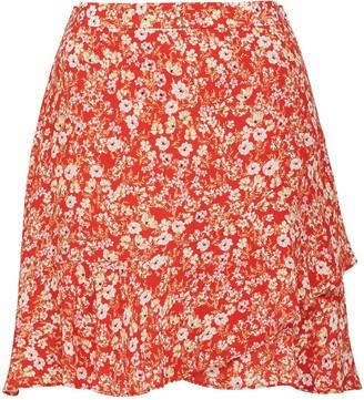 Forever New Giselle Mini Ruffle Skirt - Scarlet Ditsy - 10