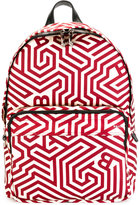 Bally geometric print backpack - men - Nylon/Leather - One Size
