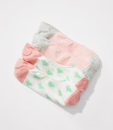LOFT Cactus & Stripe No Show Sock Set