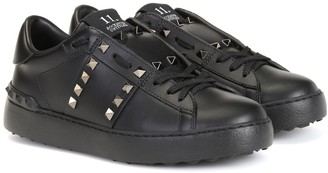 Valentino Garavani Rockstud Untitled Noir leather sneakers