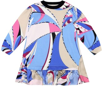Emilio Pucci Kids Sequined printed cotton dress