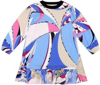 Emilio Pucci Kids Sequined printed cotton dress