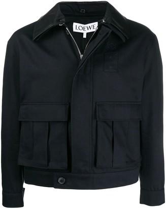 Loewe Navy Patch Pocket Jacket