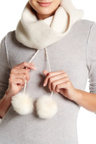 Helen Kaminski Delilia Genuine Fox Fur Pompom Cashmere Scarf