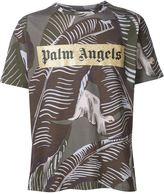 Palm Angels banana leaf print T-shirt - men - Cotton - S