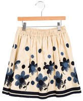 MonnaLisa Girls' Embroidered A-Line Skirt