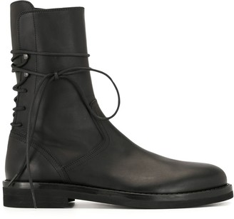 Ann Demeulemeester Rear Lace-Up Ankle Boots