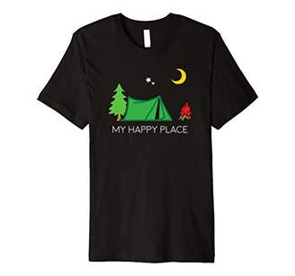Camper Camping Hiking Nature Happy Place Gift Premium T-Shirt