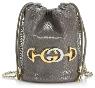 Gucci Zumi Python Mini Bucket Bag