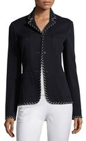 Rag & Bone Redgrave Whipstitch Three-Button Blazer, Navy