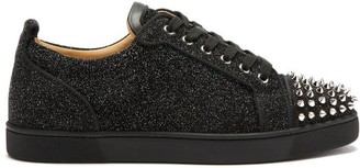 Christian Louboutin Louis Junior Orlato Glittered Trainers - Black