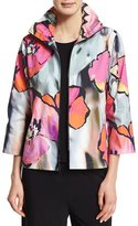 Caroline Rose Full Bloom Zip-Front Jacket