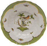Herend Rothschild Bird Green Motif 03 Rim Soup Bowl