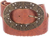 Just Cavalli Oversize Leather Belt