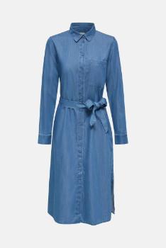 Esprit Denim Long Sleeved Dress - M .