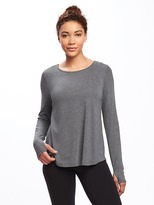 Old Navy Go-Dry Surplice-Back Top for Women