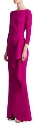Chiara Boni Gaylin Side Ruffle Gown