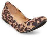 Mossimo Women's Ona Scrunch Ballet Flats - Leopard 6.5