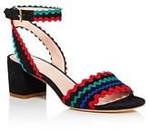 Kate Spade Piedra Embellished Mid Heel Sandals