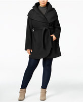 T Tahari Plus Size Marla Wrap Coat