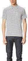Ben Sherman Men's French Terry Stripe Polo Shirt